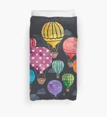 Hot Air Balloon Night Duvet Cover