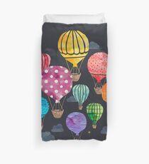 Hot Air Balloon Night Duvet Cover