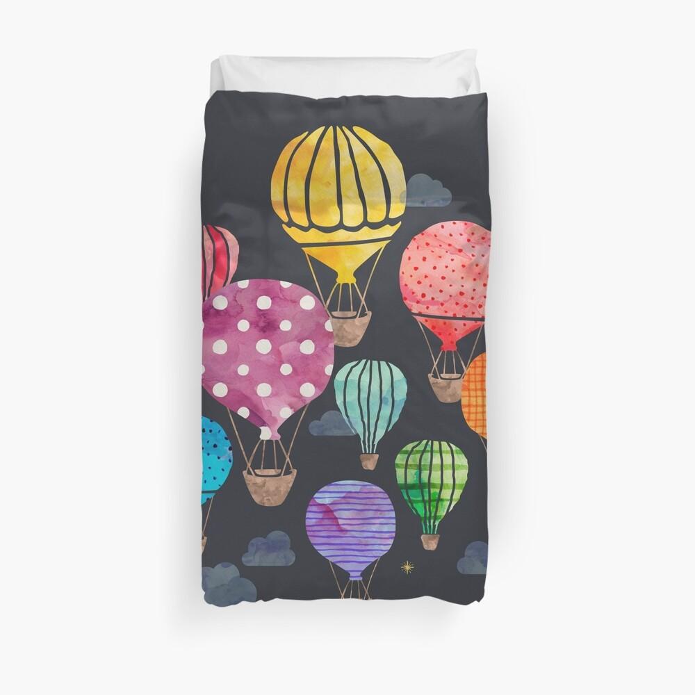 Heißluftballon Nacht Bettbezug