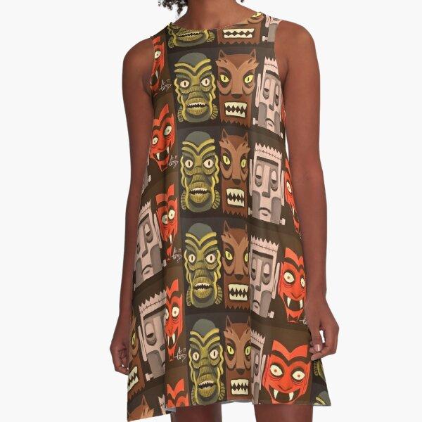 Tiki-Mon A-Line Dress