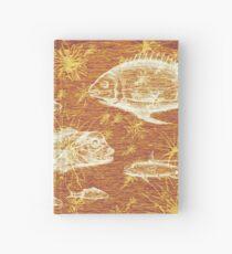 Natural History in Sunset Orange   CreateArtHistory Hardcover Journal