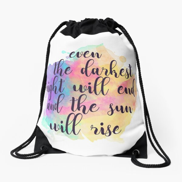 Darkest Night #2 Drawstring Bag