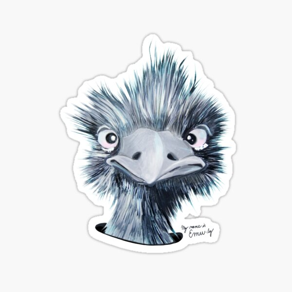 My name is EMU-LY Sticker