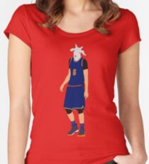 Kristaps Porzingis, The GOAT Women's Fitted Scoop T-Shirt