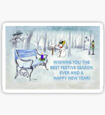 Wishing you the Best Festive Season ever! Sticker