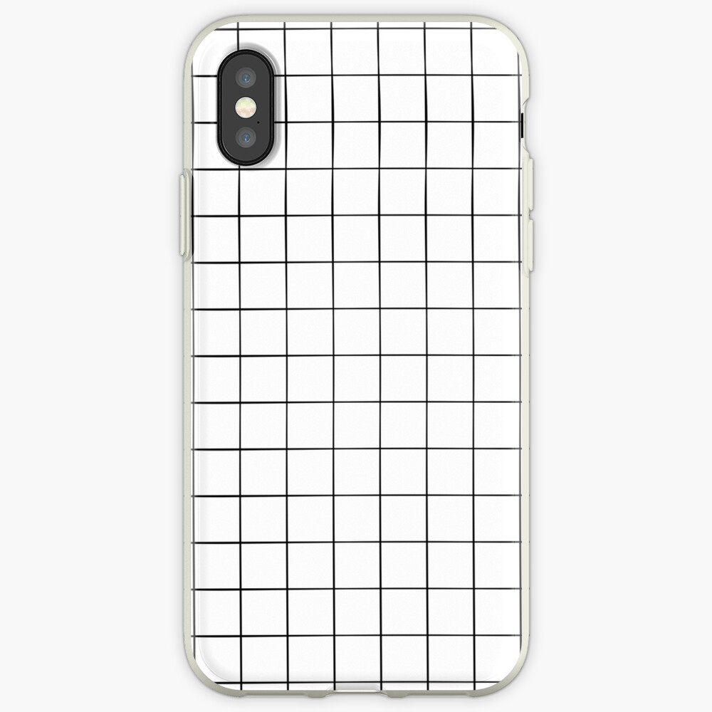 White Grid iPhone Case & Cover