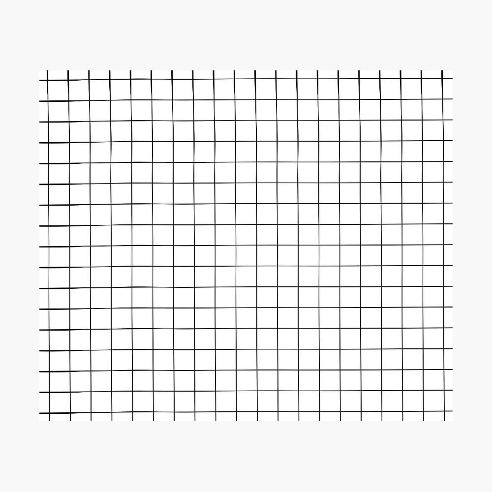 White Grid Photographic Print