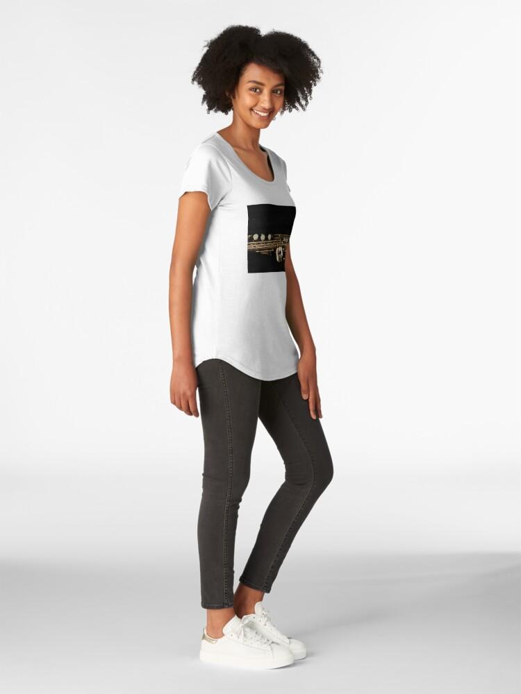 Alternative Ansicht von Soprano Sax - Side View Premium Rundhals-Shirt