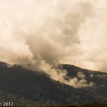 Gulaga Mountain Emerges from the Storm by pcbermagui