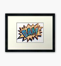 BAM Cartoon Comic Callout Framed Print