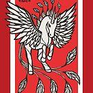 Phoenix Uniquorn - #inktober 2017 unicorn illustration by mellierosetest