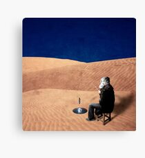 Desert Fishing - Surreal Photo Composite Canvas Print