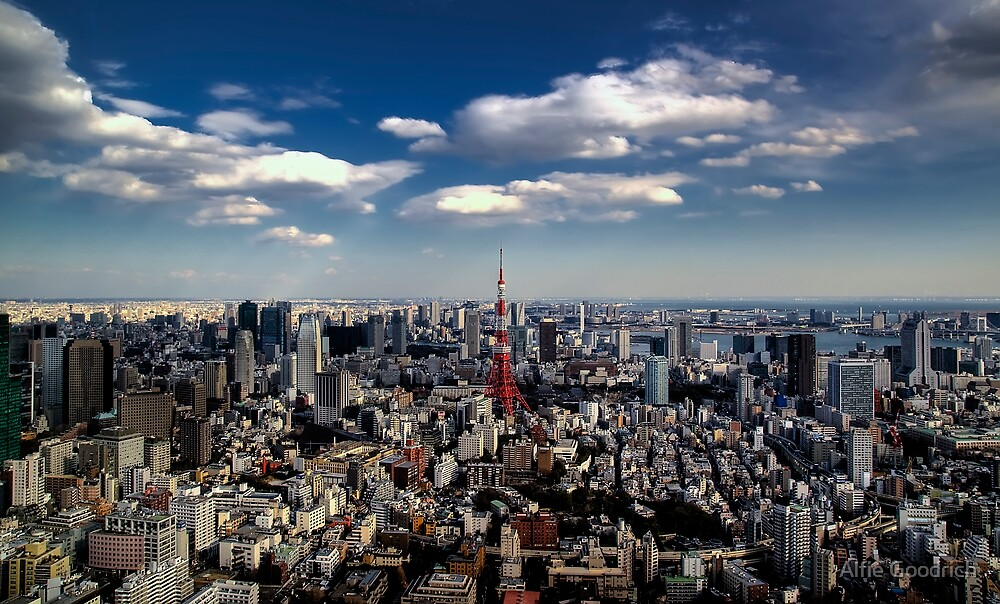 Tokyo skyline from the Mori Tower, Roppongi by Alfie Goodrich