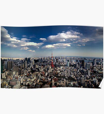 Tokyo skyline from the Mori Tower, Roppongi Poster