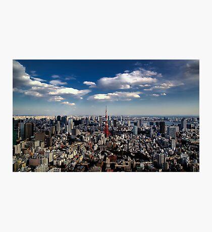 Tokyo skyline from the Mori Tower, Roppongi Photographic Print
