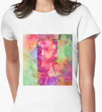Trippy Psychedelic Abstract Guy Women's Fitted T-Shirt
