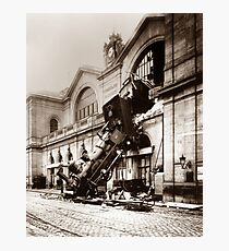 Train Derailment At Montparnasse Station - 1895  Photographic Print