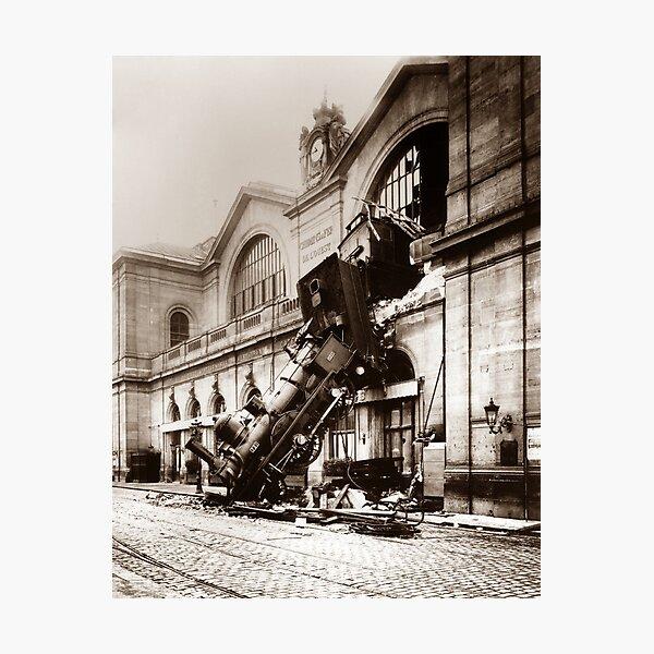 Train Derailment At Montparnasse Station - 1895  Photographic Print
