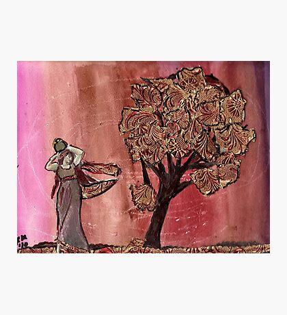 Tree Of Gold & Goddess Photographic Print