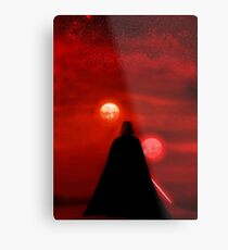 Star Wars Darth Vader Tatooine Sunset  Metal Print