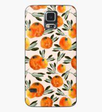 Sonnige Orange Hülle & Klebefolie für Samsung Galaxy