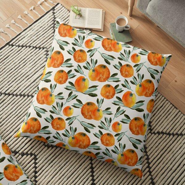 Sonnige Orange Bodenkissen