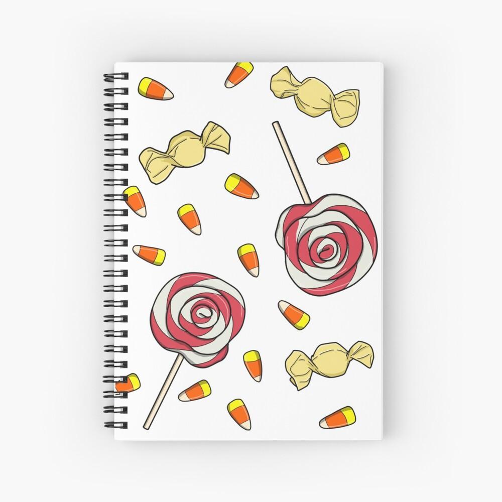Halloween Candy Spiral Notebook