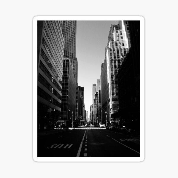 Manhattan in Black and White Sticker
