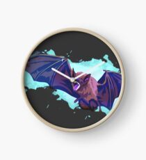 Vampire Bat Ghost Clock
