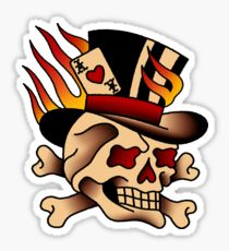 Flaming Skull of Chance Sticker