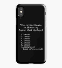 Mourning Agent Coulson iPhone Case/Skin