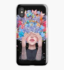 Blooming mind on black iPhone Case/Skin