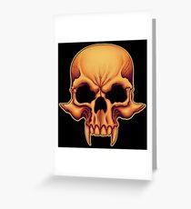 Vampire Skull Greeting Card