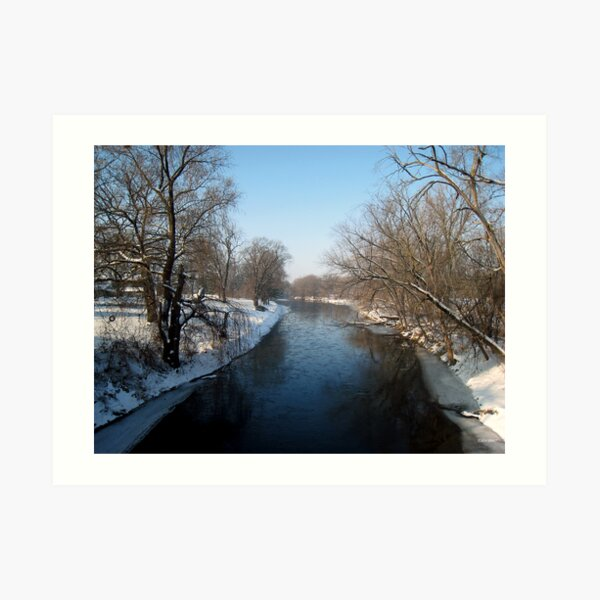 A Snowy Turtle Creek Art Print