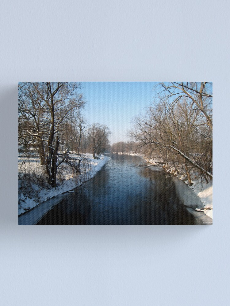 Alternate view of A Snowy Turtle Creek Canvas Print