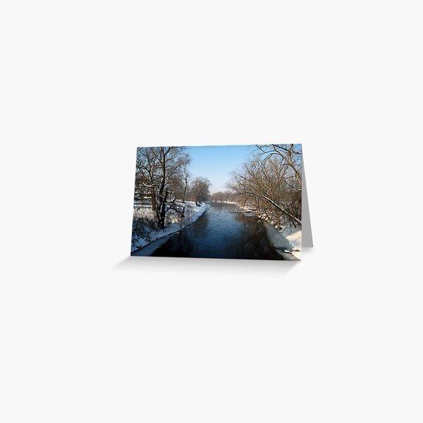 A Snowy Turtle Creek Greeting Card