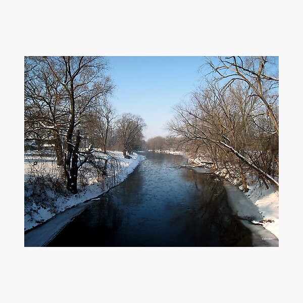 A Snowy Turtle Creek Photographic Print