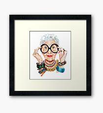 irish apfel - the legendary icon of fashion woman Framed Print