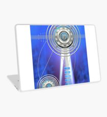 Blue Clock Metal | Digital Art | Graphic Design Laptop Skin