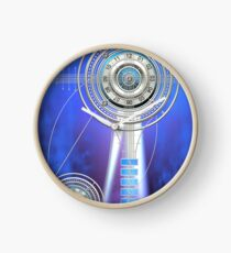 Blue Clock Metal | Digital Art | Graphic Design Clock