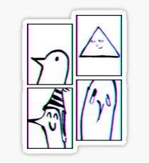 PUNPUN STAGES - Sad Japanese Aesthetic Sticker