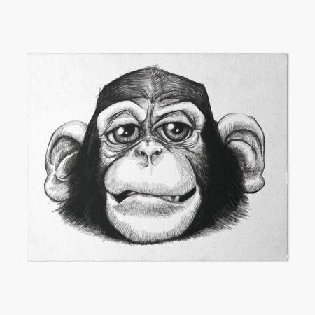 A cheeky baby chimp Art Board Print