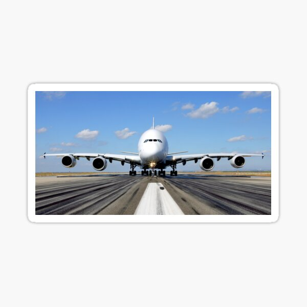 Airbus A380 Plane on the Runway Sticker