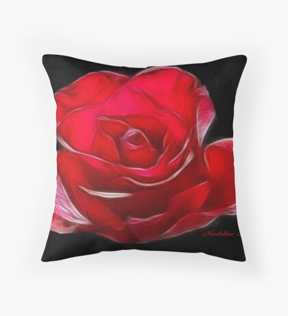 RED~ROSE Throw Pillow