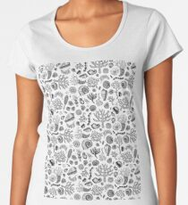 Natural Forms - Black and White - Nautical monochrome pattern by Cecca Designs Women's Premium T-Shirt