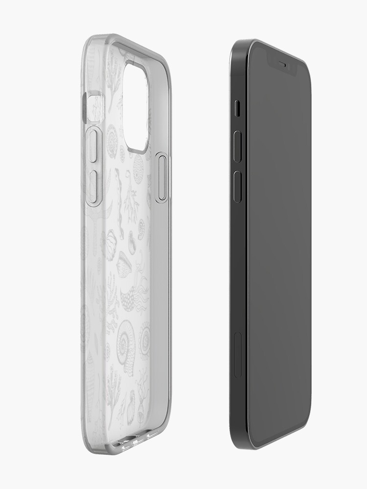 Alternate view of Natural Forms - Black and White - Nautical monochrome pattern by Cecca Designs iPhone Case & Cover