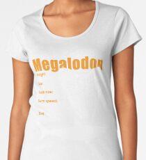 Funny Megalodon tshirt - great gift for shark lovers Women's Premium T-Shirt