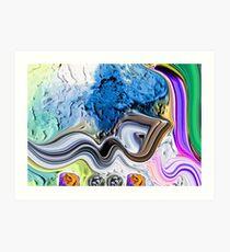 Al Mujeeb Allah name Painting Art Print