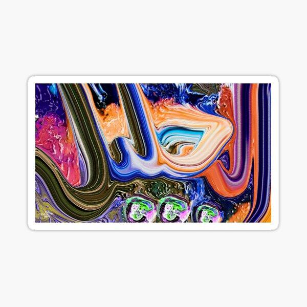 Al Jaleel Al Jalil Allah Name modern calligraphy painting Sticker