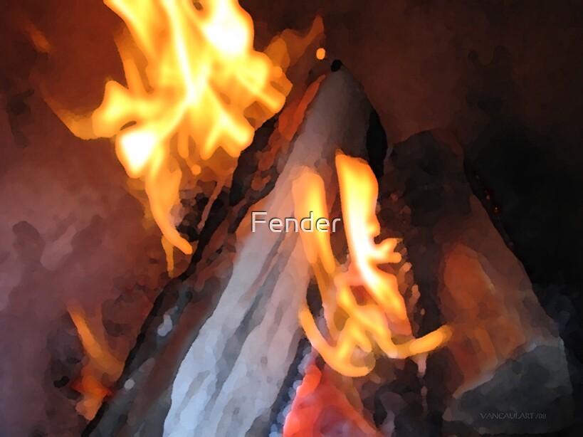 Fire — Watercolour by Fender